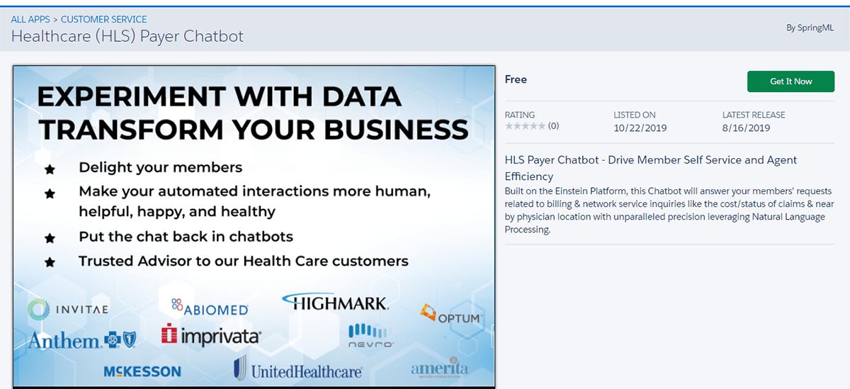 SpringML Healthcare Payer Bot