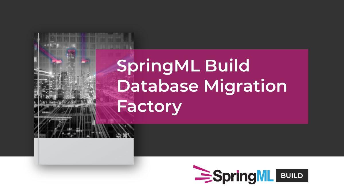 SpringML Build Database Migration